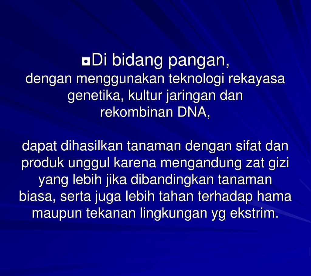 PPT - MATERI PERKULIAHAN BIOLOGI TERAPAN II oleh : Ir ...