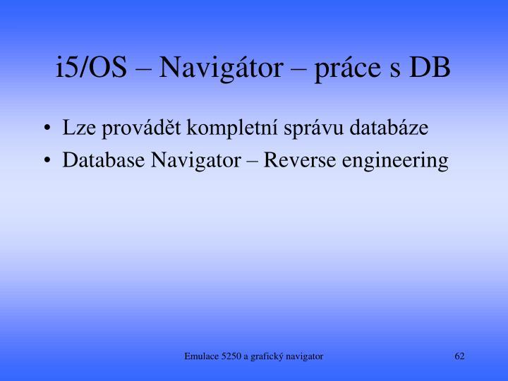 i5/OS – Navigátor – práce s DB