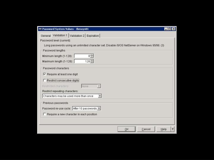 i5/OS – Navigátor – SYSVAL Obr. 3