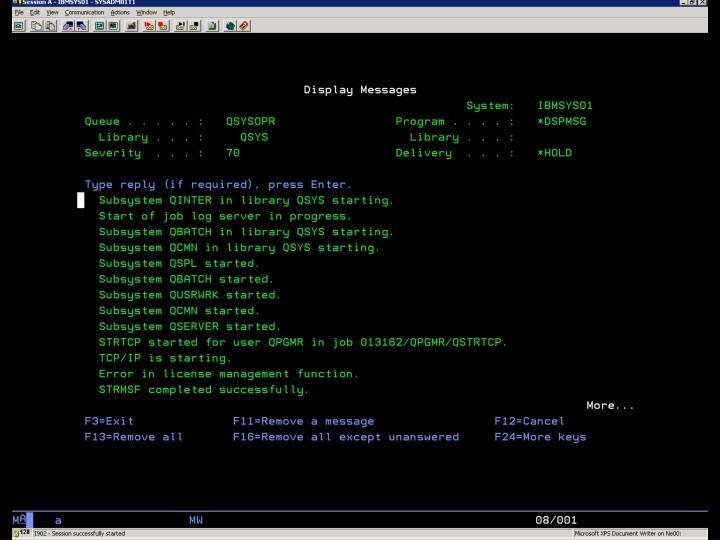 i5/OS –  SYSOPR Obr. 1