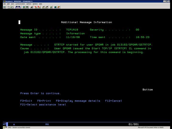 i5/OS –  SYSOPR Obr. 2