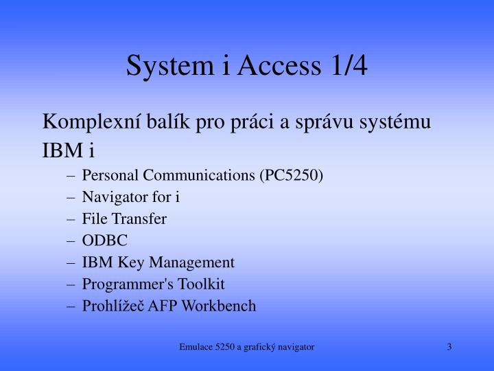 System i access 1 4