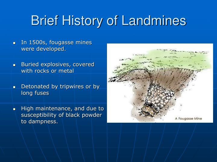 Brief history of landmines1