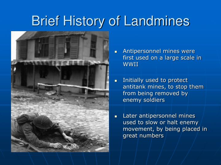 Brief History of Landmines