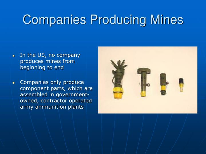 Companies Producing Mines