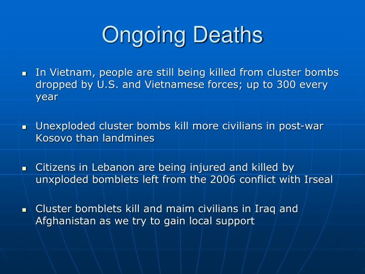 Ongoing Deaths