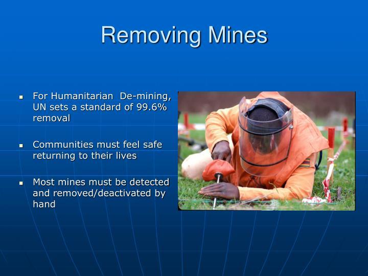 Removing Mines
