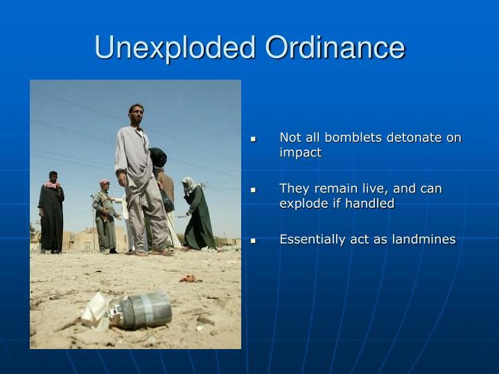 Unexploded Ordinance