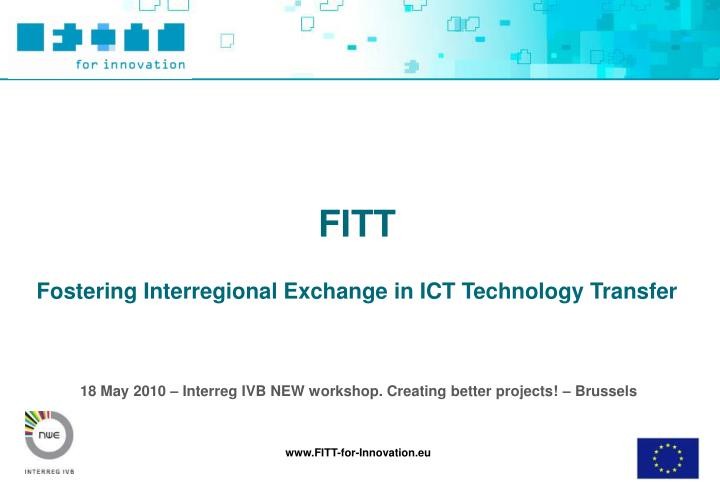 18 may 2010 interreg ivb new workshop creating better projects brussels