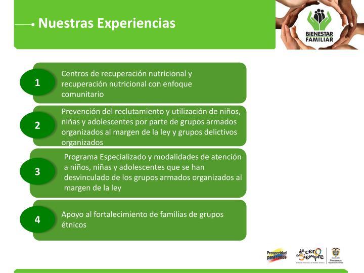 Nuestras Experiencias