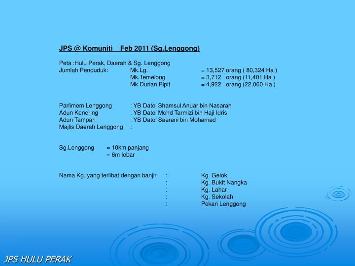 JPS @ Komuniti    Feb 2011 (Sg.Lenggong)