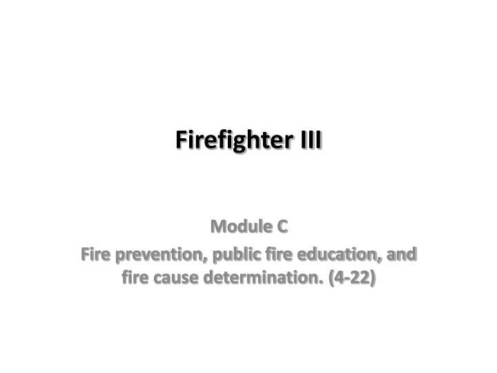 firefighter iii n.