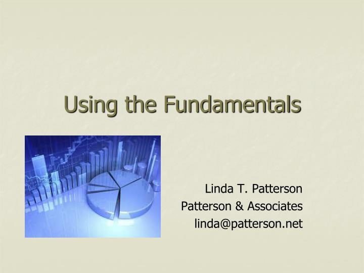 using the fundamentals n.