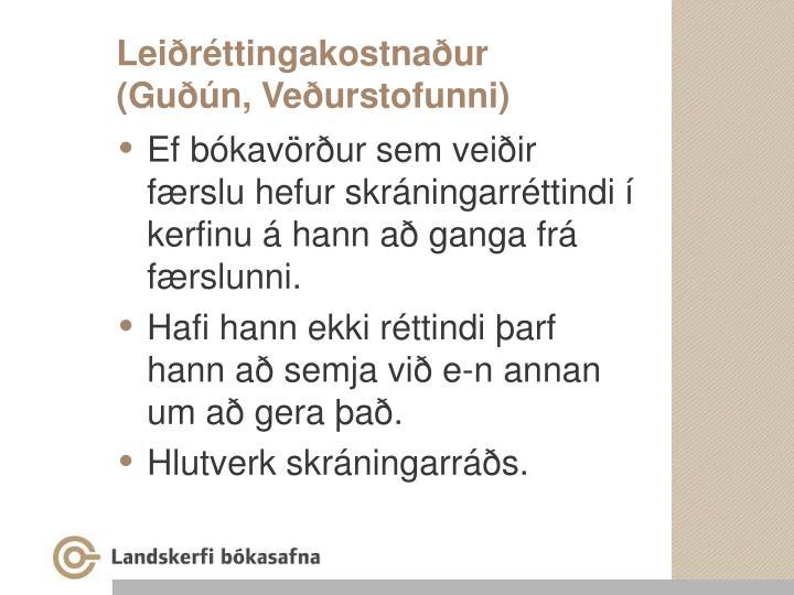 Leiðréttingakostnaður
