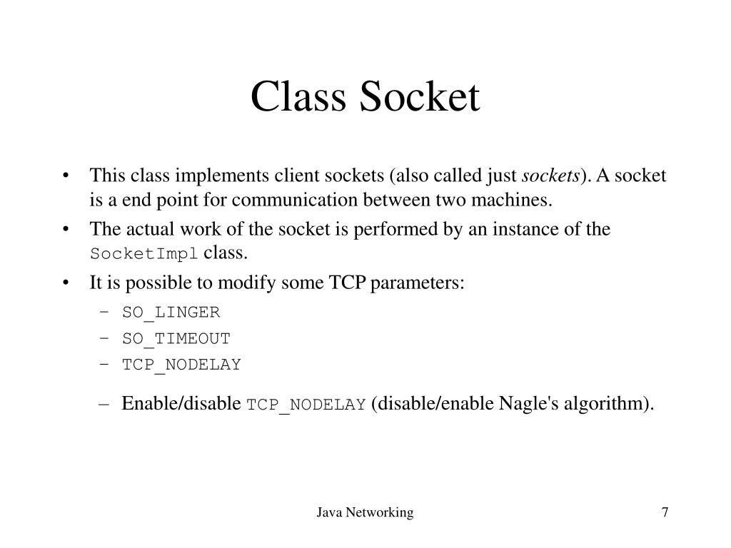 PPT - Java Net Classes PowerPoint Presentation - ID:3507316