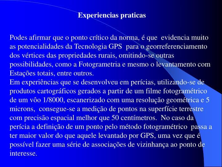 Experiencias praticas