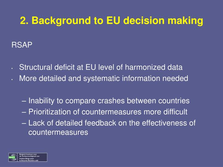 2. Background to EU decision making