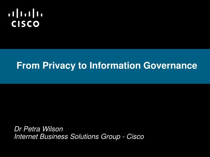 from privacy to information governance n.