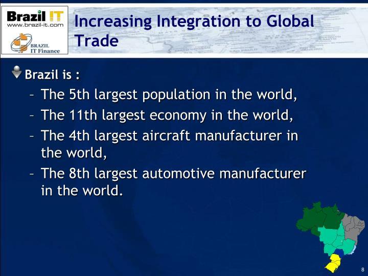 Increasing Integration to Global Trade
