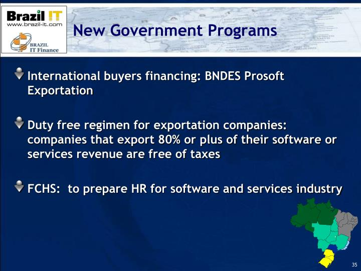 New Government Programs