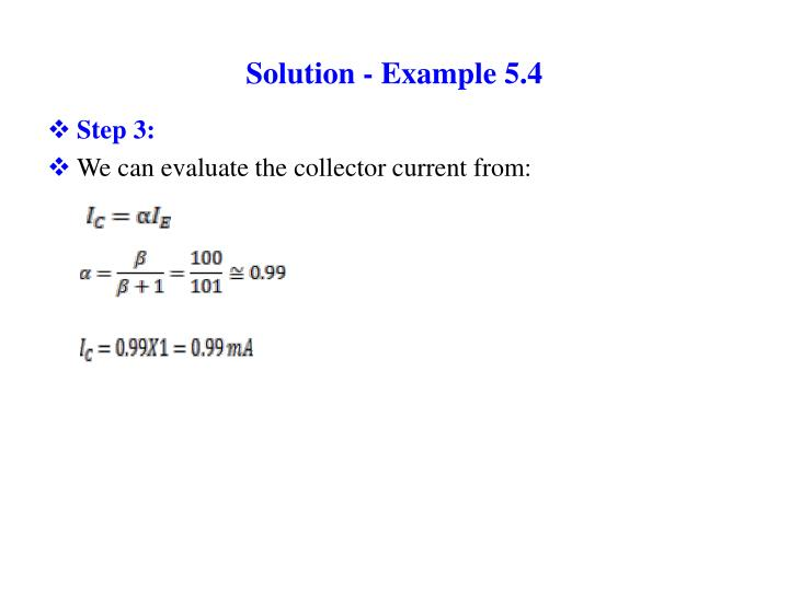 Solution - Example 5.4