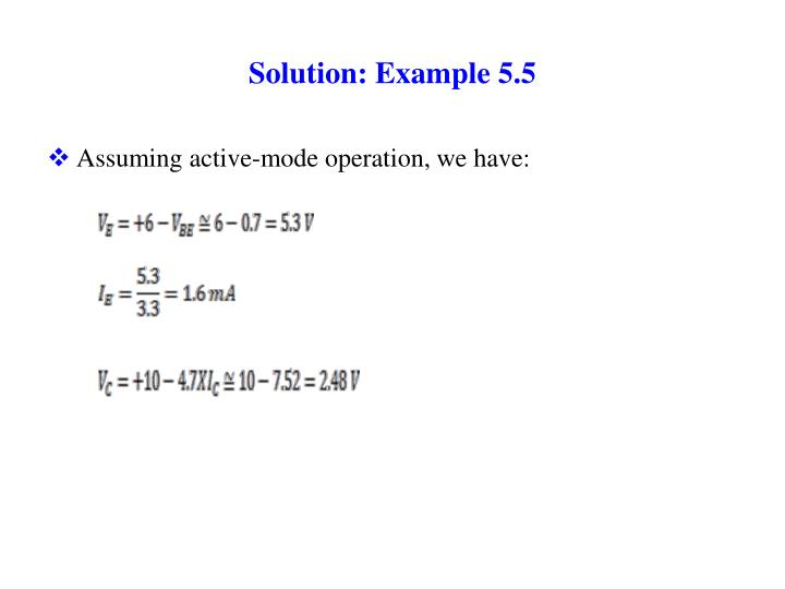 Solution: Example