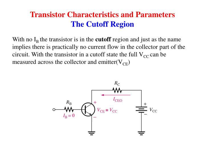 Transistor Characteristics and