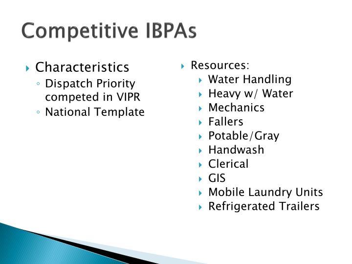 Competitive IBPAs