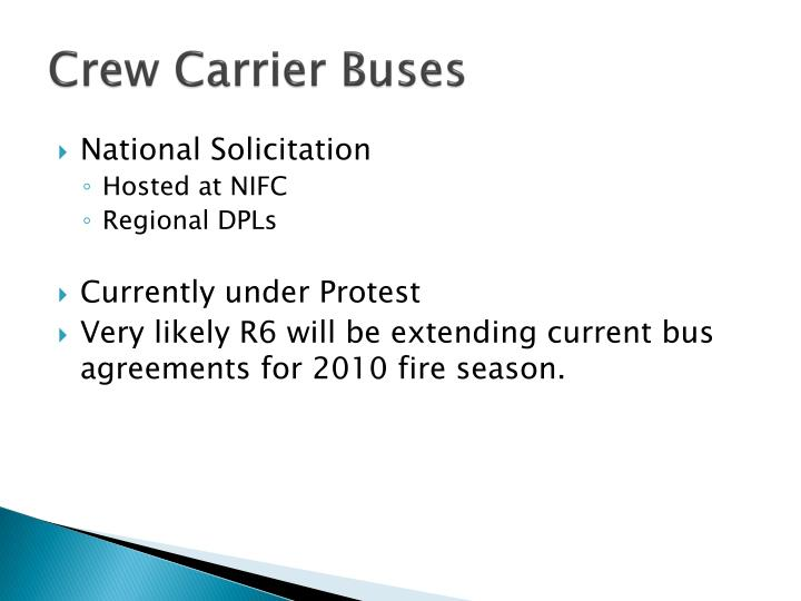 Crew Carrier Buses
