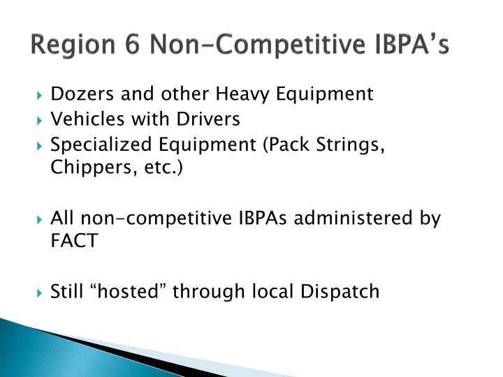 Region 6 Non-Competitive IBPA's