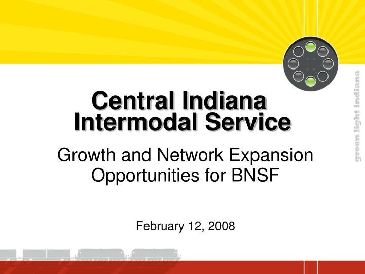 Central indiana intermodal service