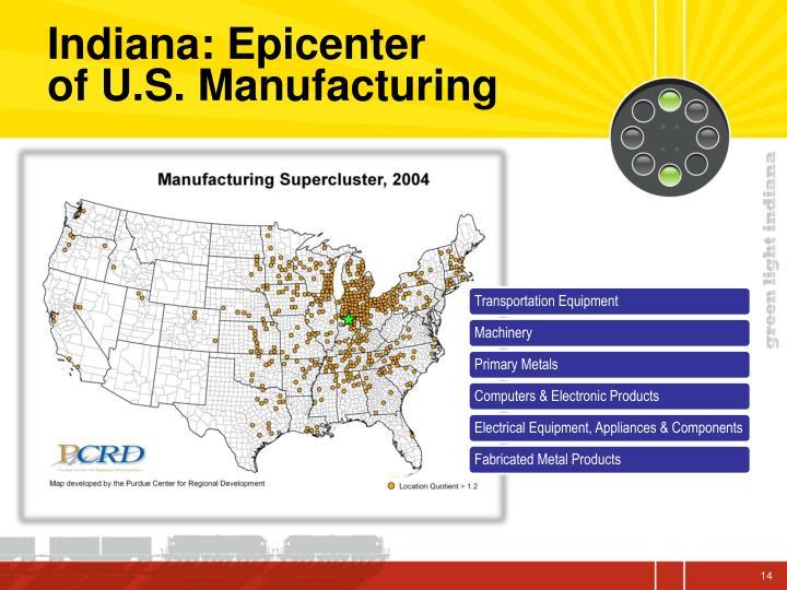 Indiana: Epicenter