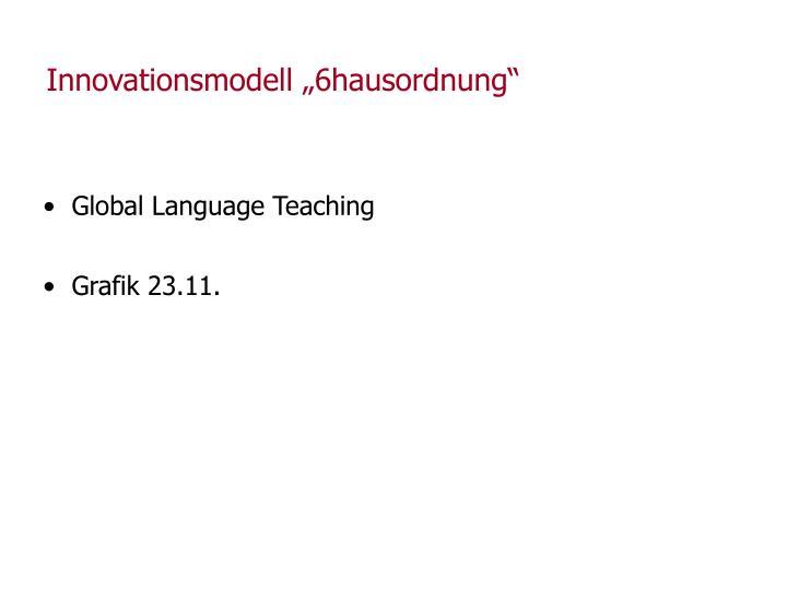 """Innovationsmodell """"6hausordnung"""""""