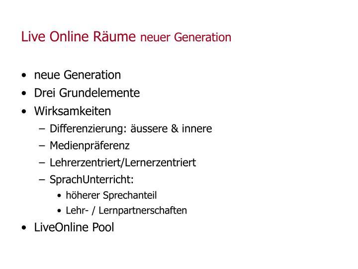 Live Online Räume