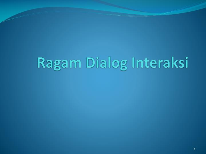 ragam dialog interaksi n.