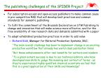 the publishing challenges of the spider project