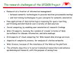the research challenges of the spider project
