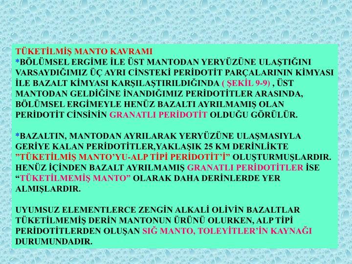 TÜKETİLMİŞ MANTO KAVRAMI