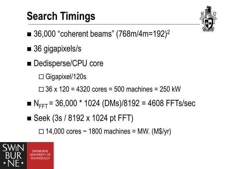 Search Timings