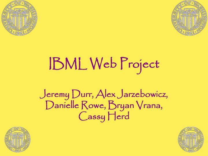 Ibml web project