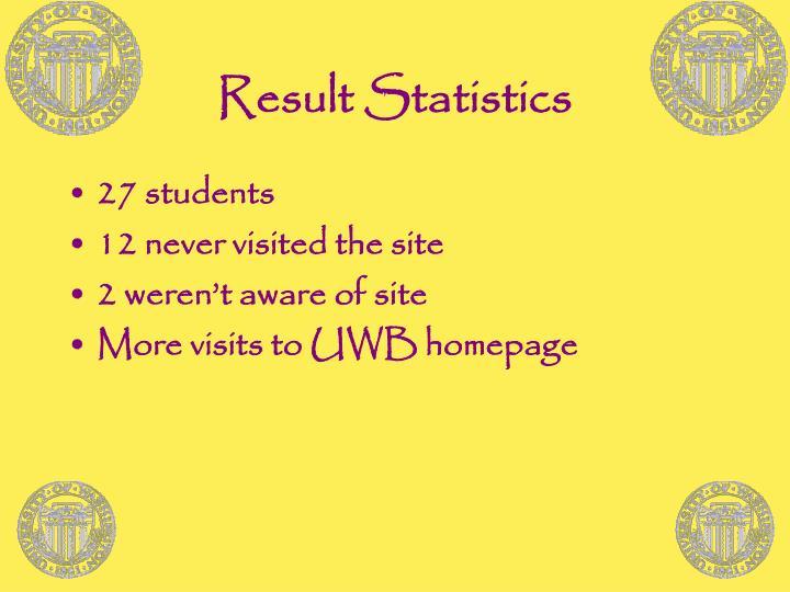 Result Statistics