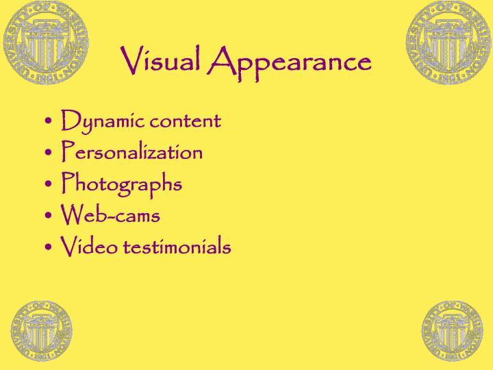 Visual Appearance