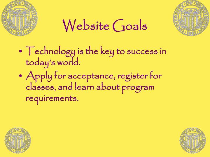 Website goals