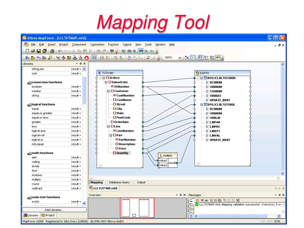 Database Mapping Tool on