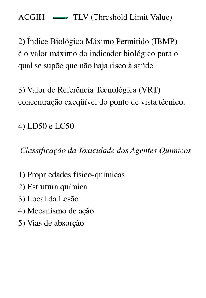 ACGIH TLV (Threshold Limit Value)