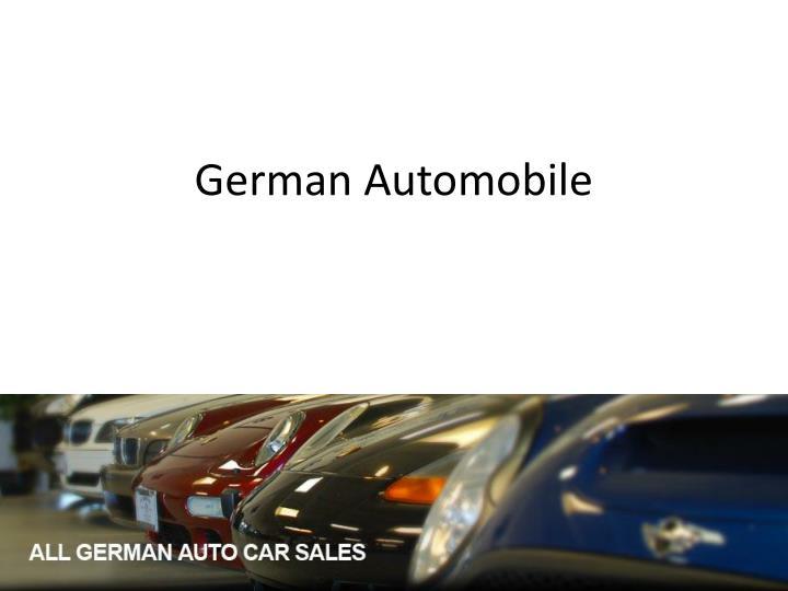 German automobile
