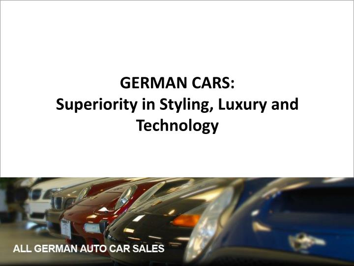 GERMAN CARS: