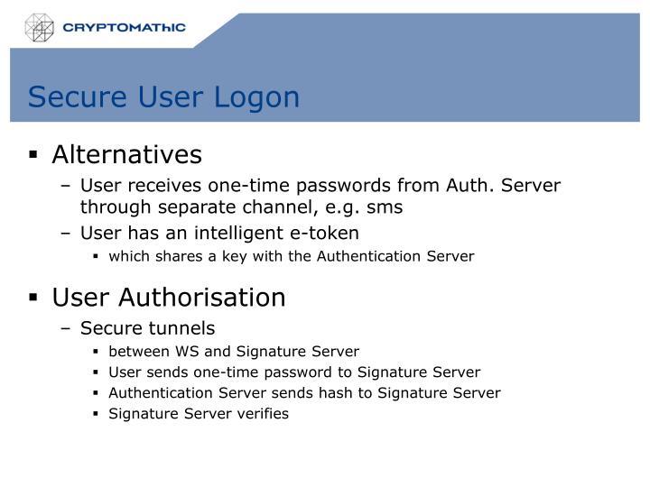 Secure User Logon