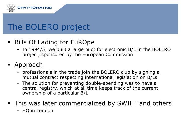The BOLERO project