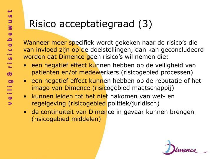 Risico acceptatiegraad (3)